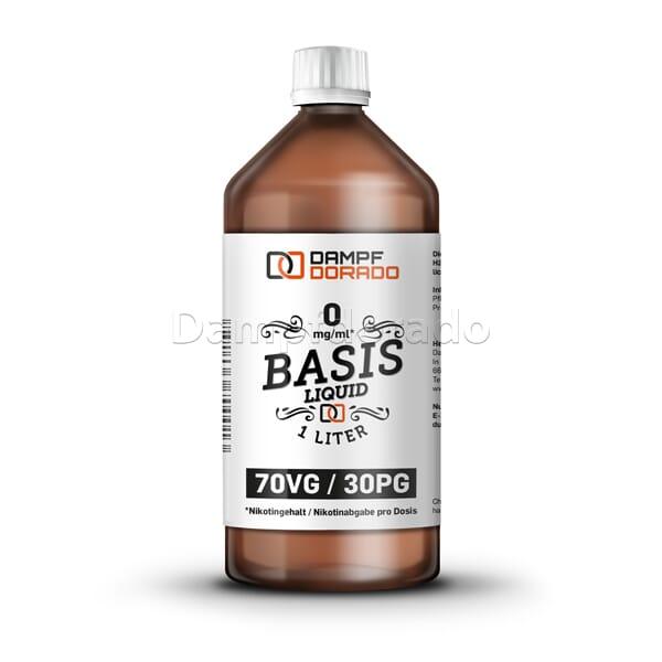 Nikotinfreie Basislösung 1 Liter 30PG 70VG