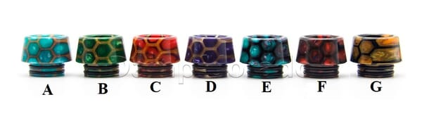 810er Resin Drip Tip New Honeycomb - Typ kurz